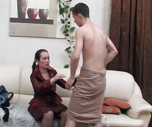 Hannah Hays da un show mujeres tetonas desnudas porno interracial para papá
